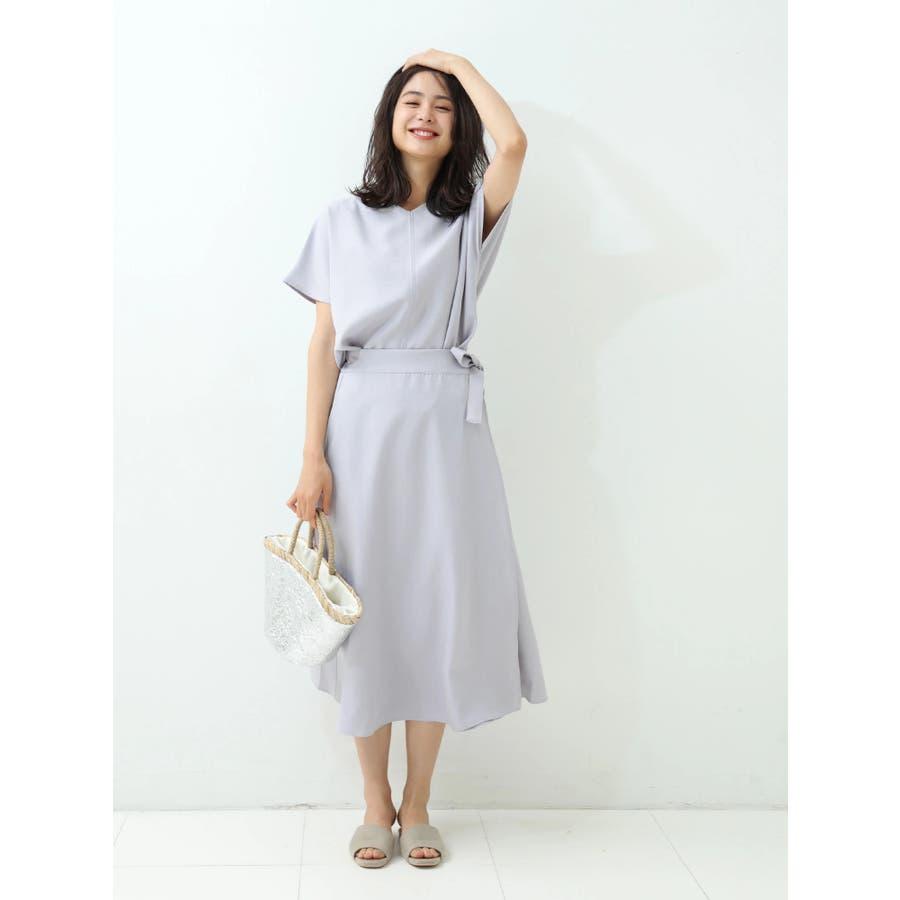 リネン風ラップスカート 3