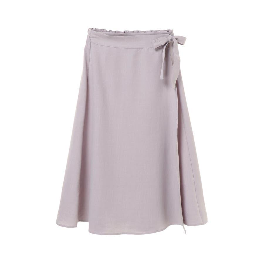 リネン風ラップスカート 4