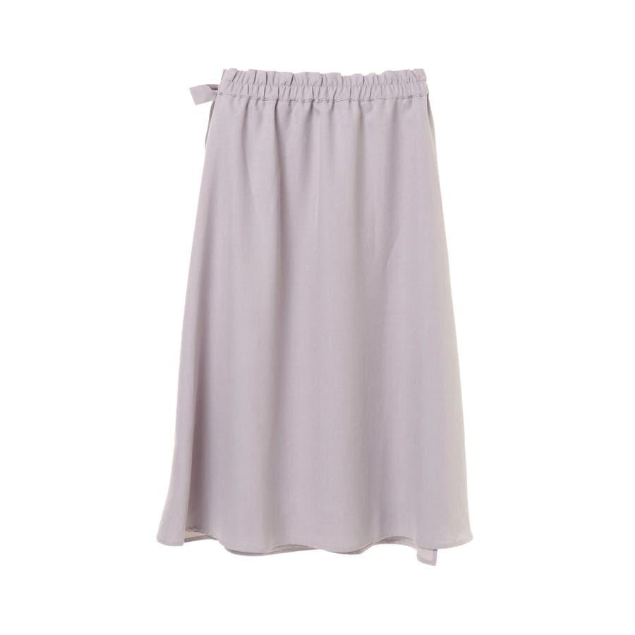 リネン風ラップスカート 5