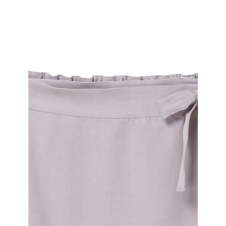 リネン風ラップスカート 6