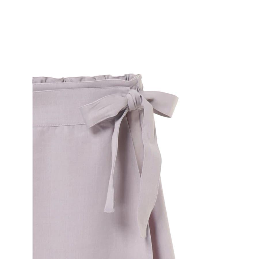 リネン風ラップスカート 7