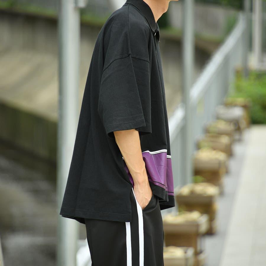 【kutir】配色ポロシャツ 4