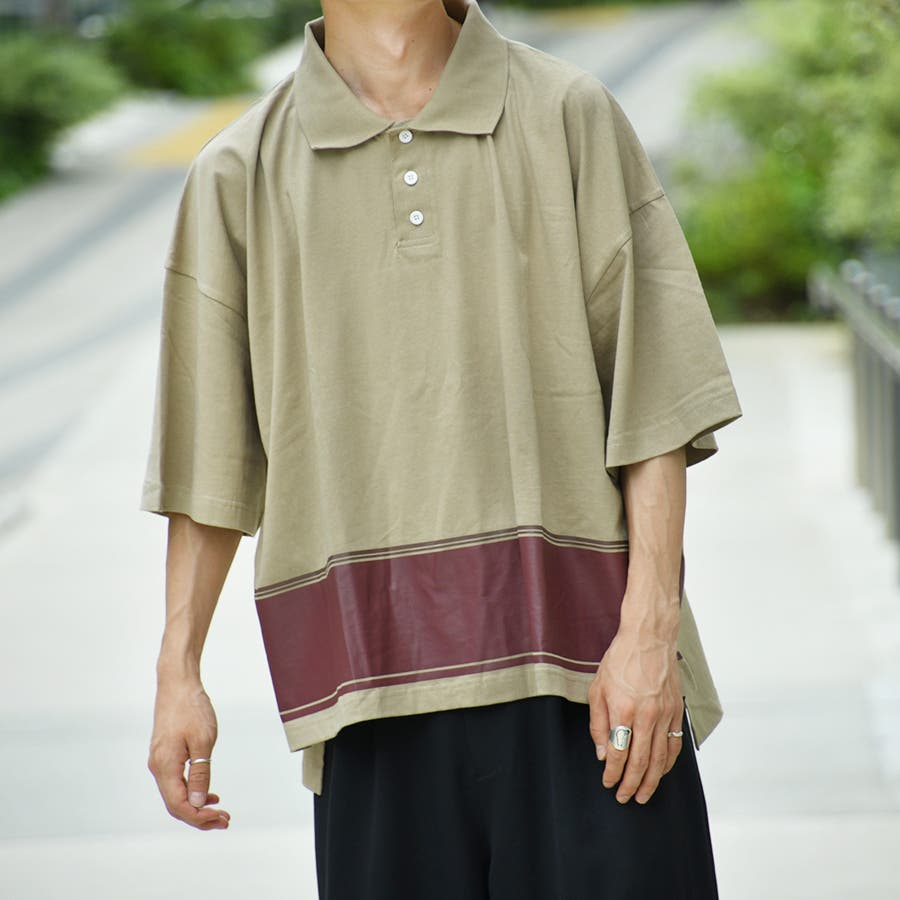 【kutir】配色ポロシャツ 5