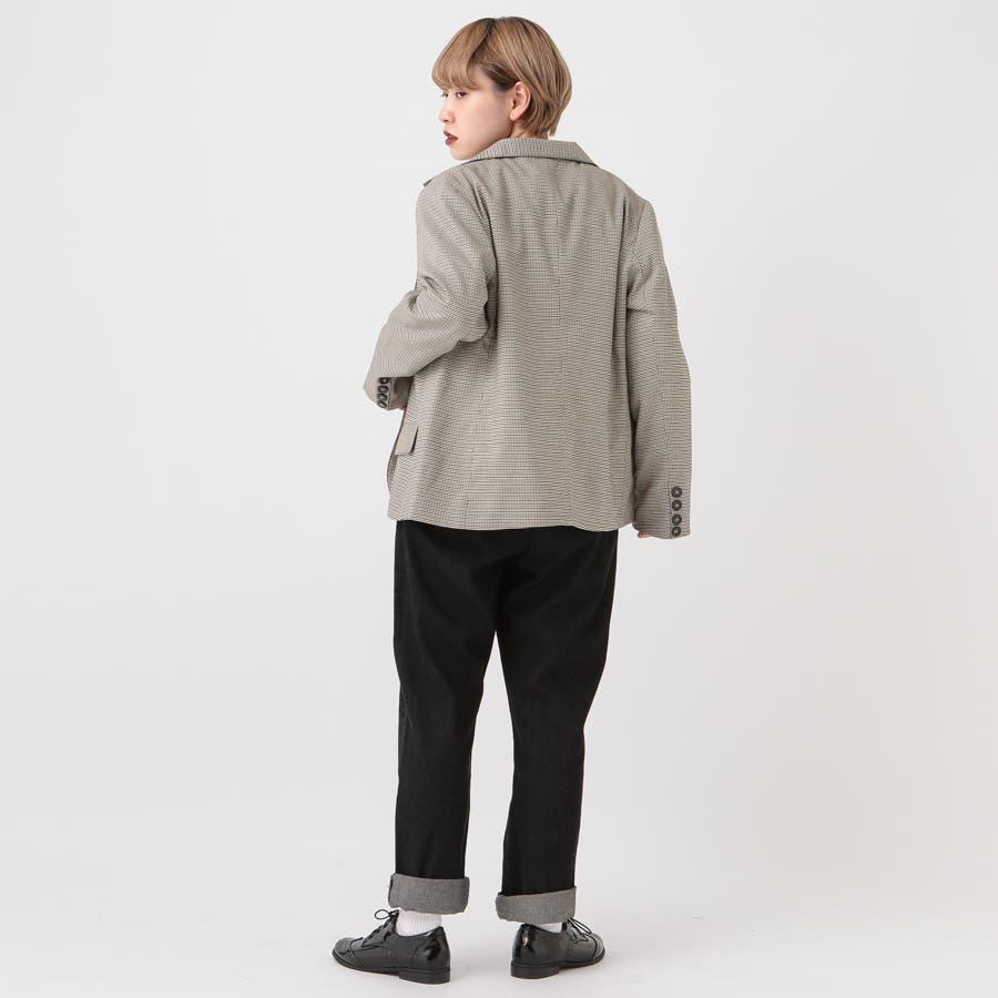【kutir】【セットアップ】チェック柄テーラードジャケット 6