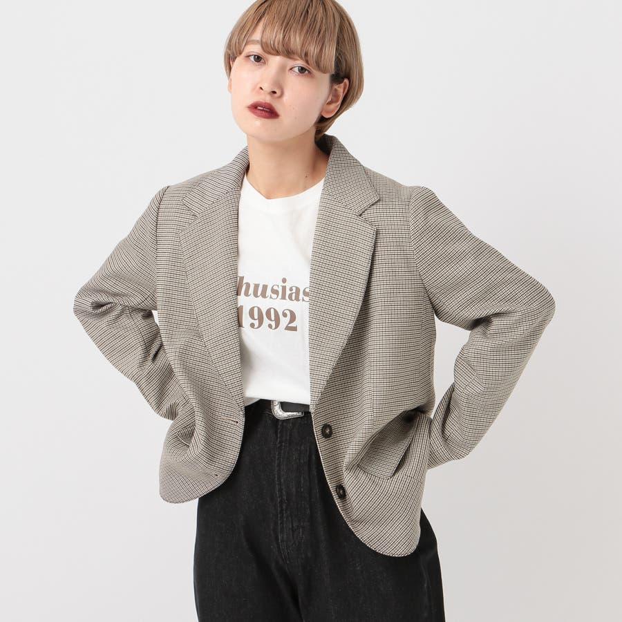 【kutir】【セットアップ】チェック柄テーラードジャケット 24