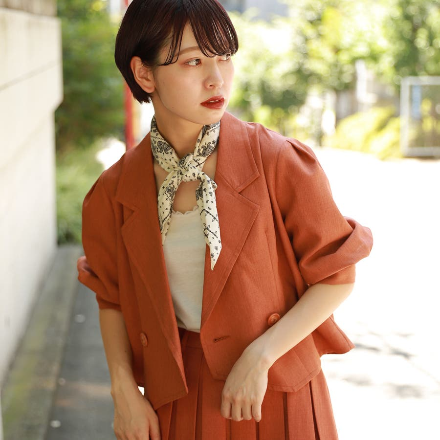 【kutir】【セットアップ】パワショルジャケット 102