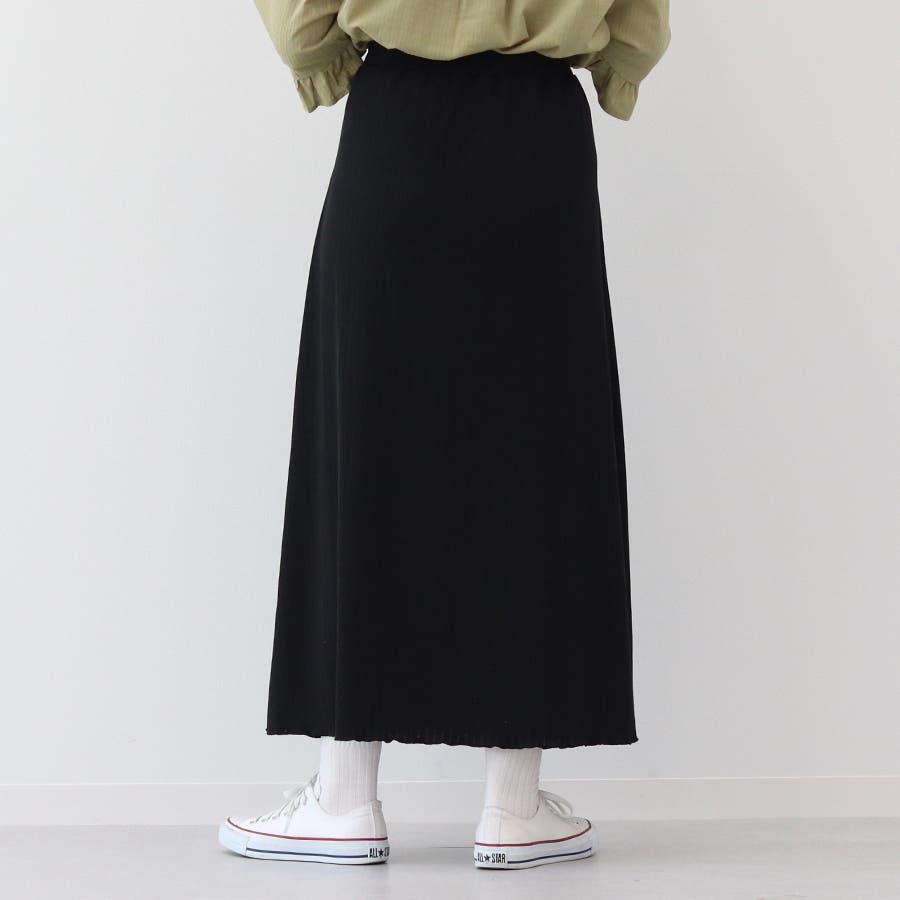 【kutir】ベーシックリブロングスカート 3