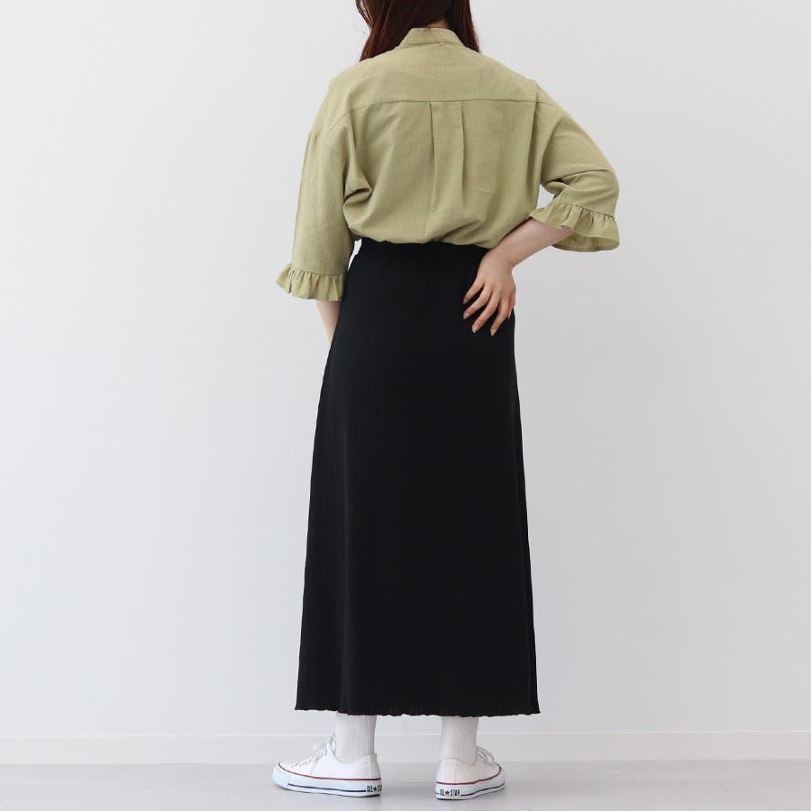 【kutir】ベーシックリブロングスカート 5