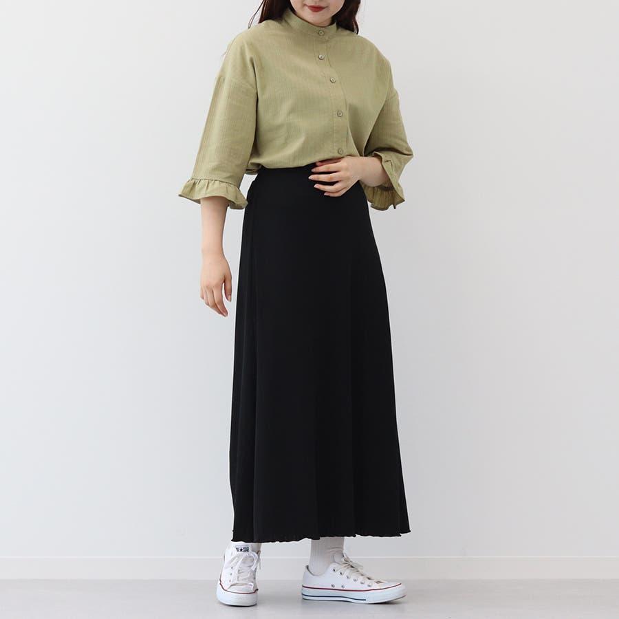 【kutir】ベーシックリブロングスカート 6
