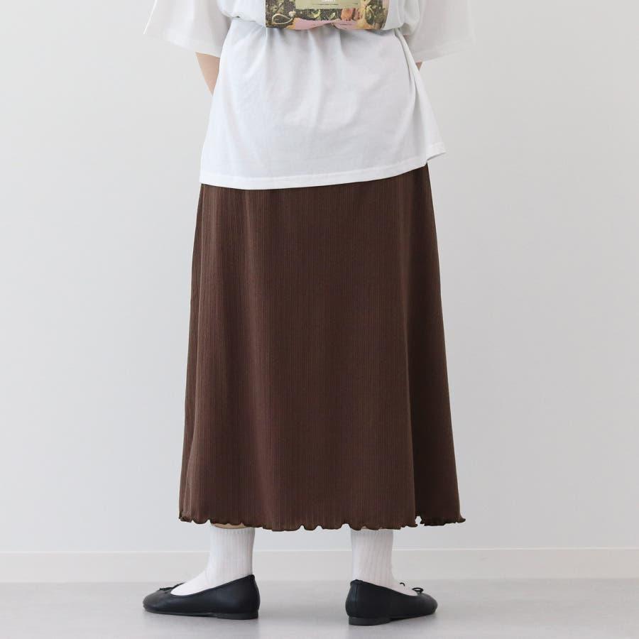 【kutir】ベーシックリブロングスカート 8