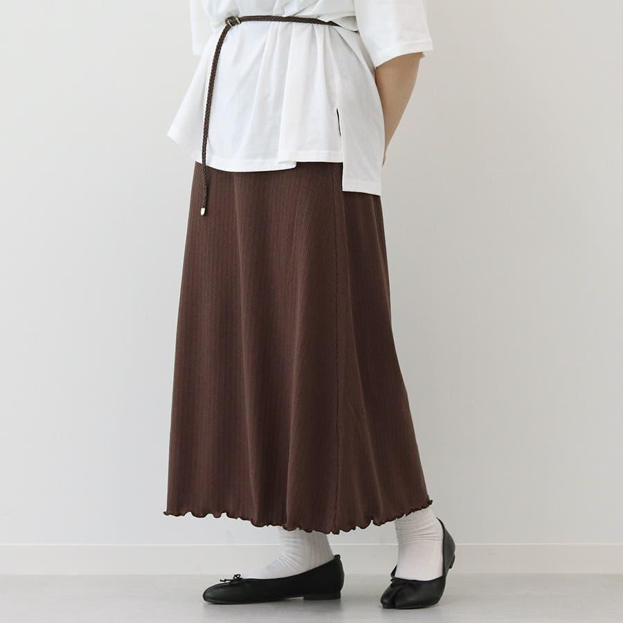 【kutir】ベーシックリブロングスカート 31