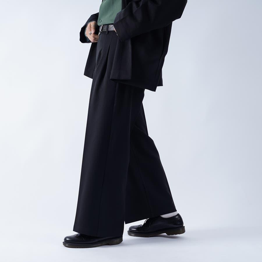 【kutir】センタープレス2タックワイドスラックス 1