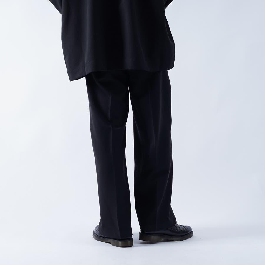 【kutir】センタープレス2タックワイドスラックス 5