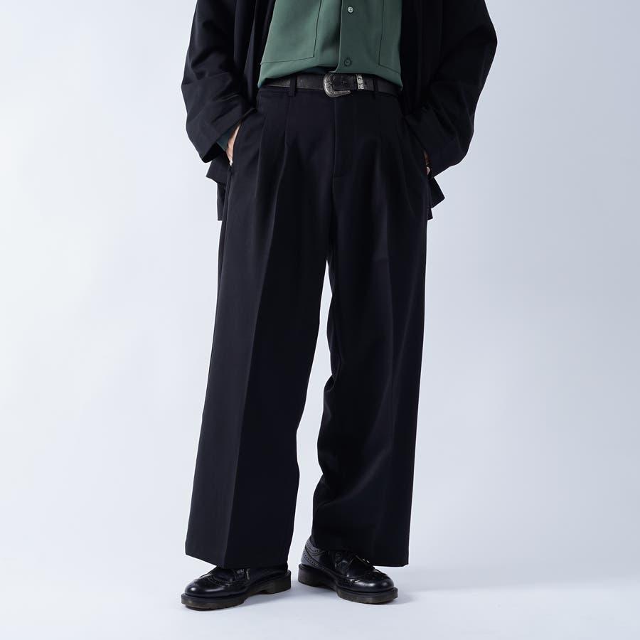 【kutir】センタープレス2タックワイドスラックス 6