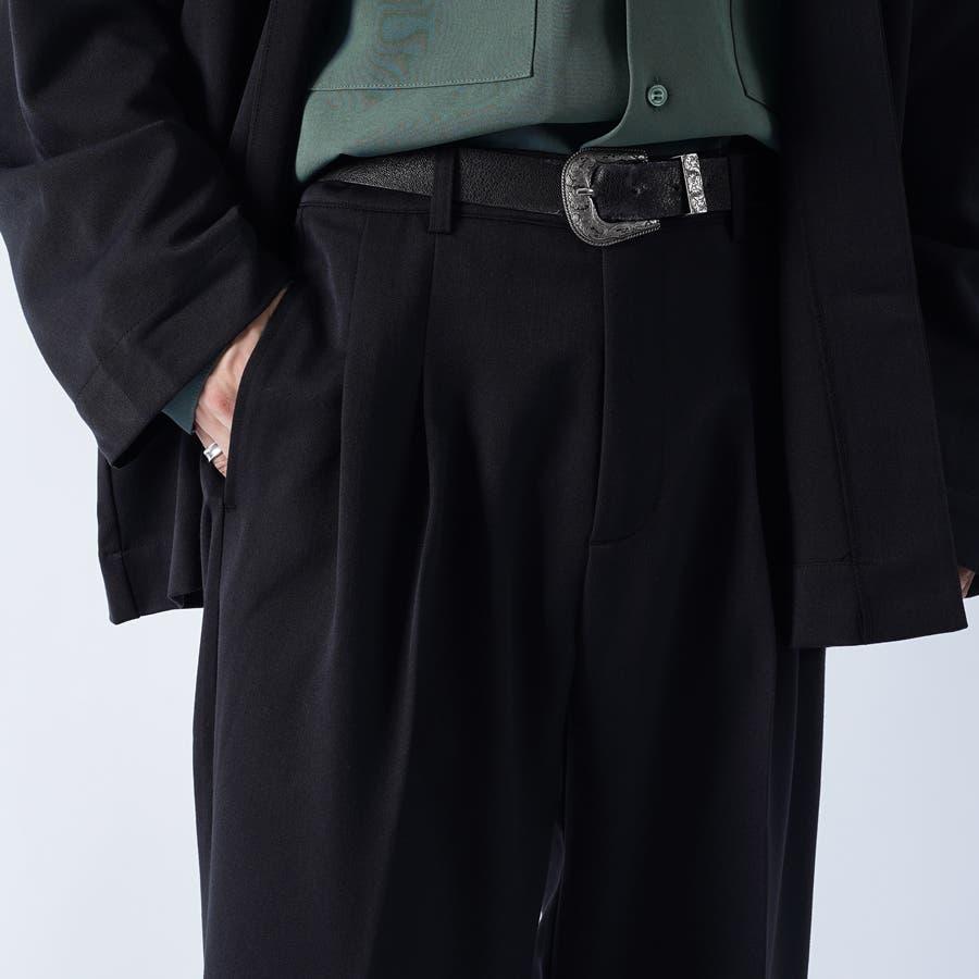 【kutir】センタープレス2タックワイドスラックス 7