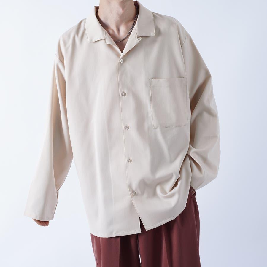 【kutir】袖ボタンレスオープンカラーシャツ 1
