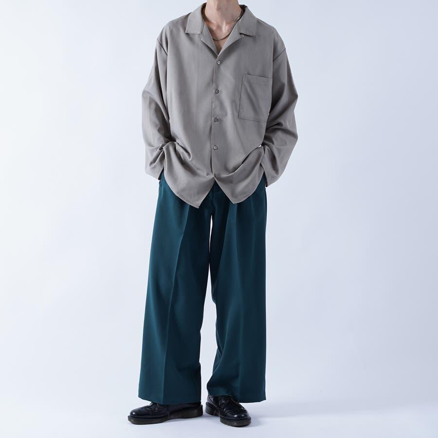 【kutir】袖ボタンレスオープンカラーシャツ 2