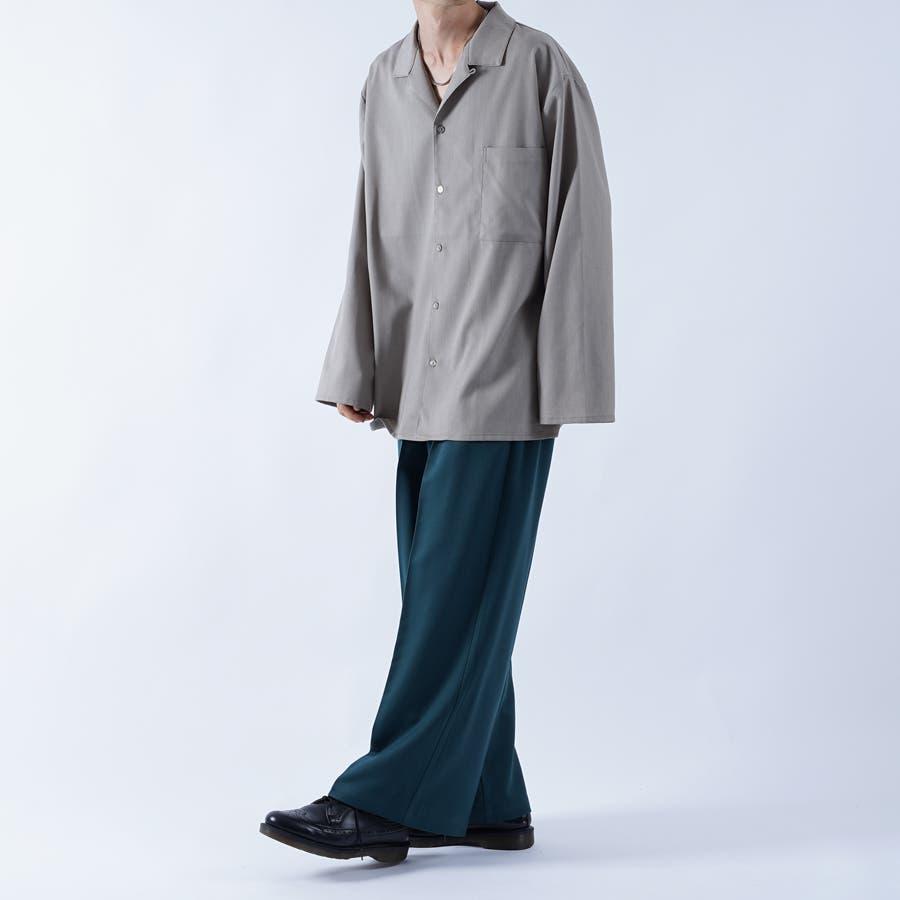 【kutir】袖ボタンレスオープンカラーシャツ 5