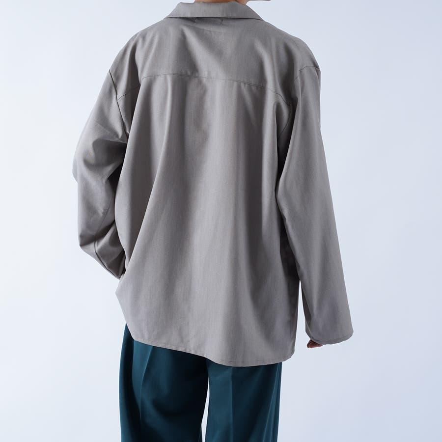 【kutir】袖ボタンレスオープンカラーシャツ 7