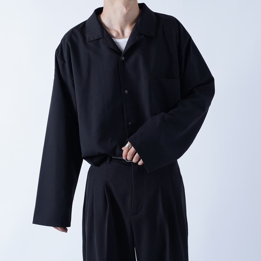 【kutir】袖ボタンレスオープンカラーシャツ 21