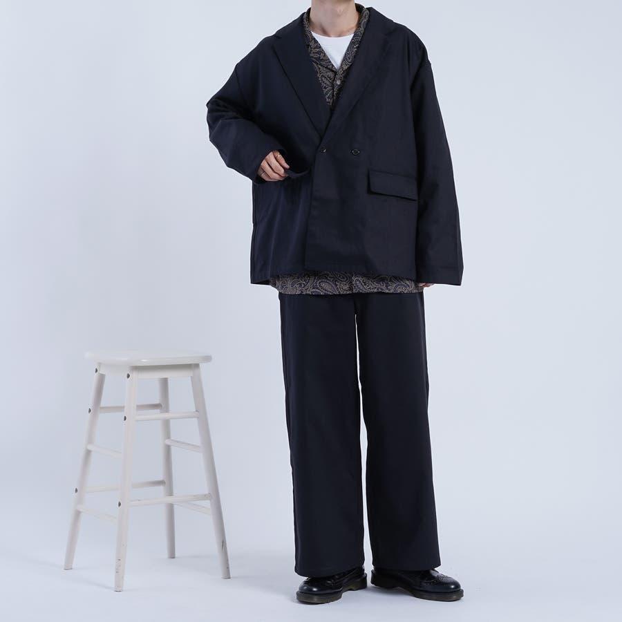 【kutir】ヘリンボンウルトラワイドパンツ 2