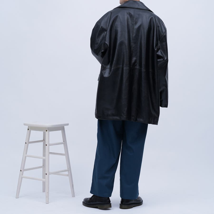 【kutir】フェイクレザーオーバージャケット 3
