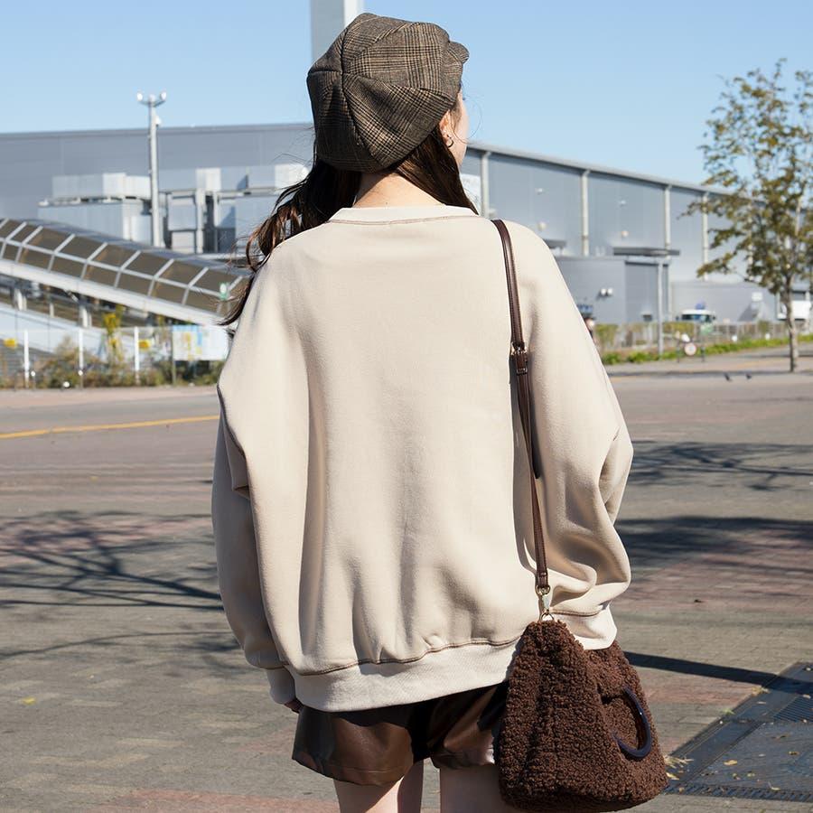 【リンクコーデ専門ブランド/ペアペア】配色ステッチプルオーバー(ユニセックス) 7