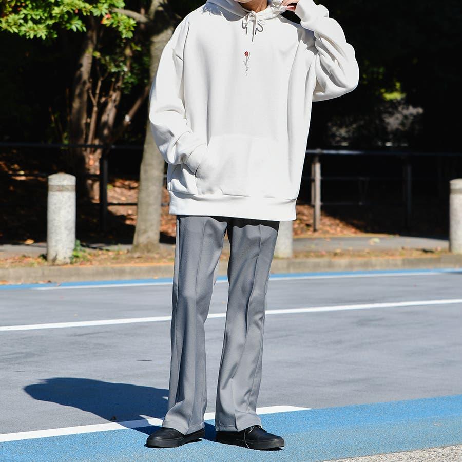 【Adoon plain】センタープレスフレアパンツ 2