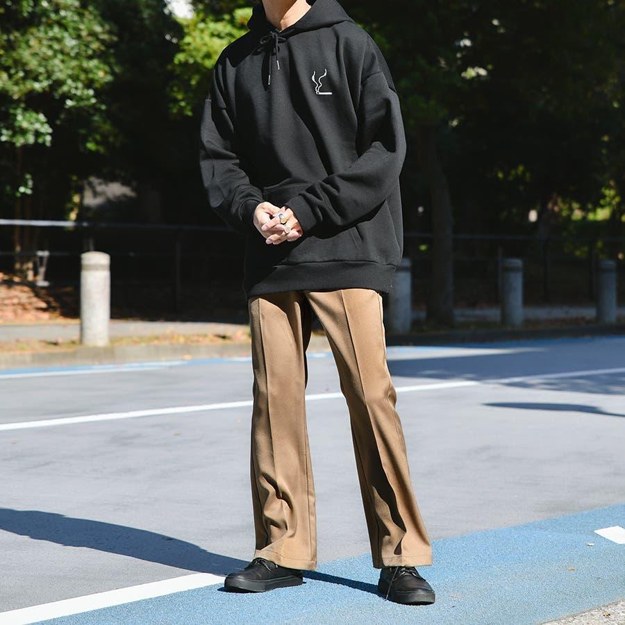 【Adoon plain】センタープレスフレアパンツ 3