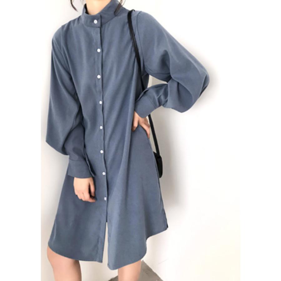 ボリュームスリーブシャツワンピース【韓国ファッション】 6