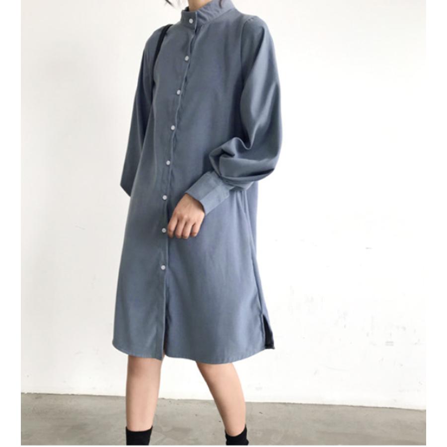 ボリュームスリーブシャツワンピース【韓国ファッション】 59