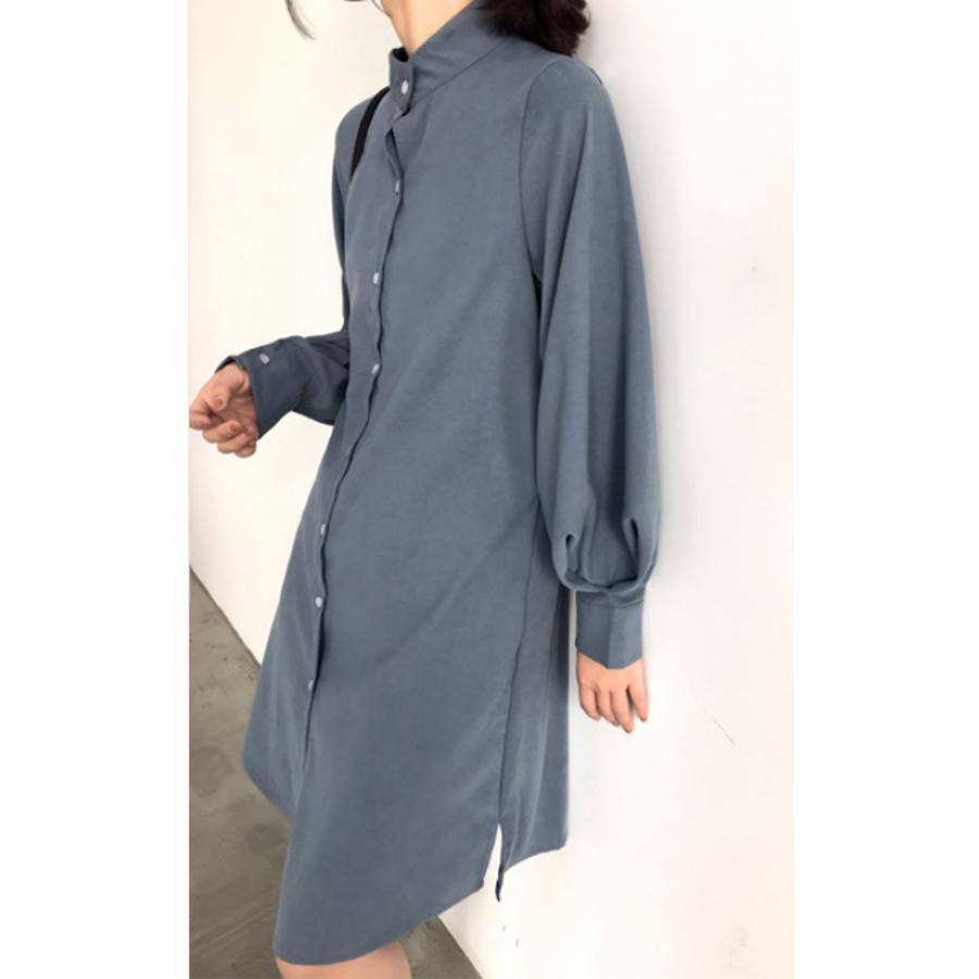 ボリュームスリーブシャツワンピース【韓国ファッション】 3
