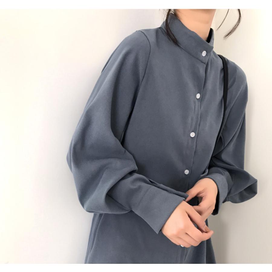 ボリュームスリーブシャツワンピース【韓国ファッション】 4