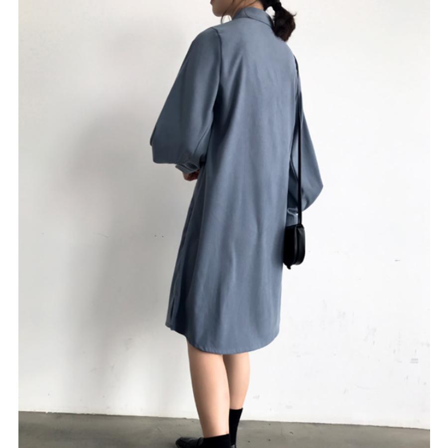 ボリュームスリーブシャツワンピース【韓国ファッション】 5