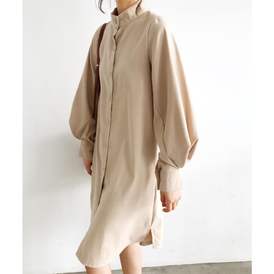 ボリュームスリーブシャツワンピース【韓国ファッション】 41