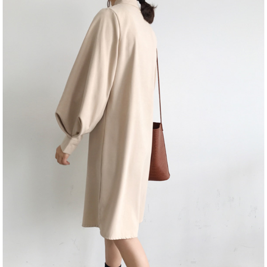 ボリュームスリーブシャツワンピース【韓国ファッション】 9