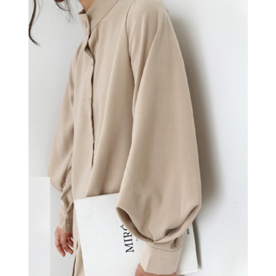 ボリュームスリーブシャツワンピース【韓国ファッション】 10