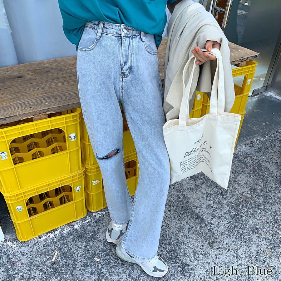 【girlydoll】ダメージストレートデニム【2020春夏商品】 8