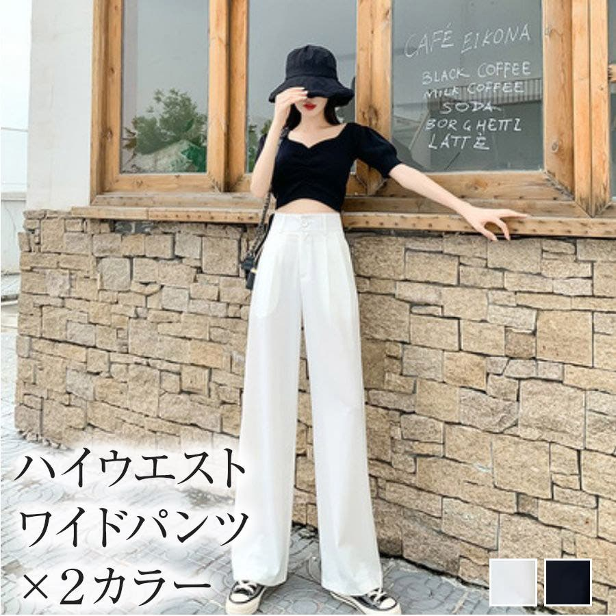 【girlydoll】ハイウエストタックパンツ【2020春夏商品】 1