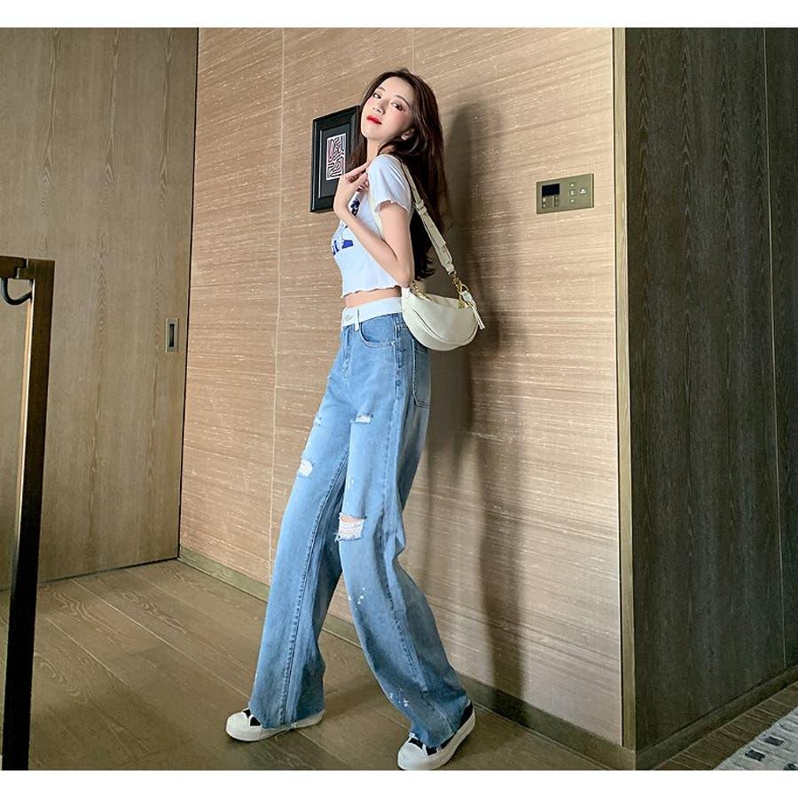 【Girly Doll】ダメージフレアデニム【 2020春夏商品】 4