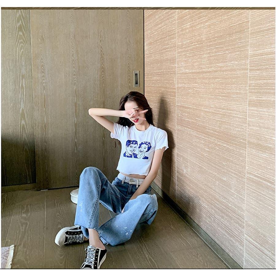 【Girly Doll】ダメージフレアデニム【 2020春夏商品】 8
