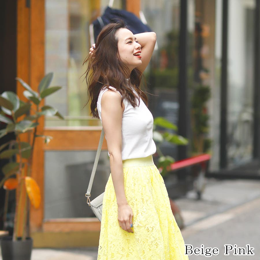 【GirlyDoll】プチハイネックレースノースリーブ mailG-SI-18-1-004【2019夏商品】ゆったり/ドロップショルダー/トップス/レディース/フェス/春夏/ビーチ/サンダル/海/韓国ファッション 4