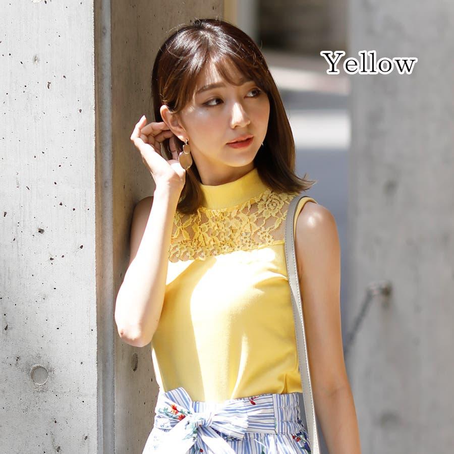 【GirlyDoll】プチハイネックレースノースリーブ mailG-SI-18-1-004【2019夏商品】ゆったり/ドロップショルダー/トップス/レディース/フェス/春夏/ビーチ/サンダル/海/韓国ファッション 83