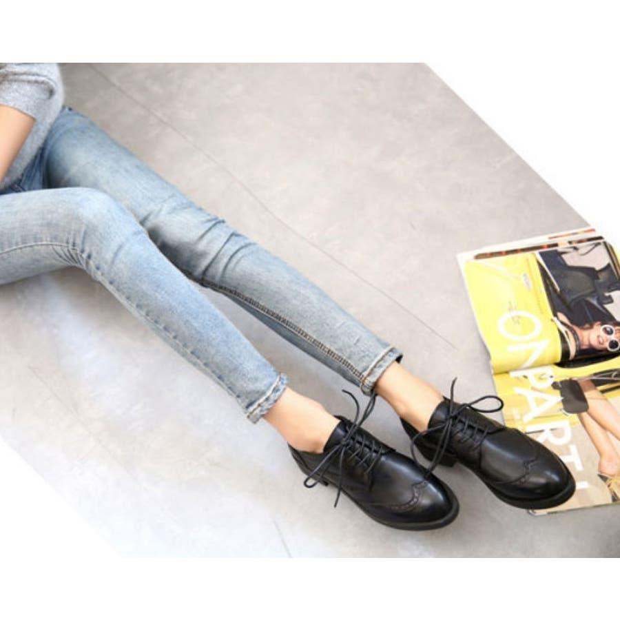 【GirlyDoll】トレンドのおじ靴◇履き心地good♪全3色♪