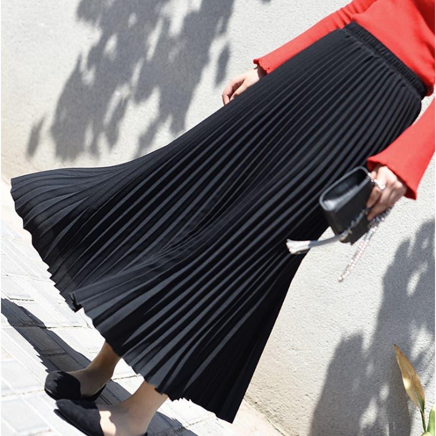 人気のフレアーロングスカート  ソリッドカラー レディース 全8色 10