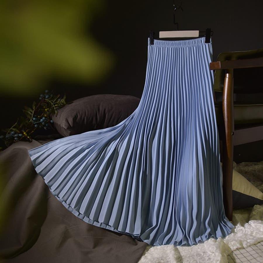 人気のフレアーロングスカート  ソリッドカラー レディース 全8色 2