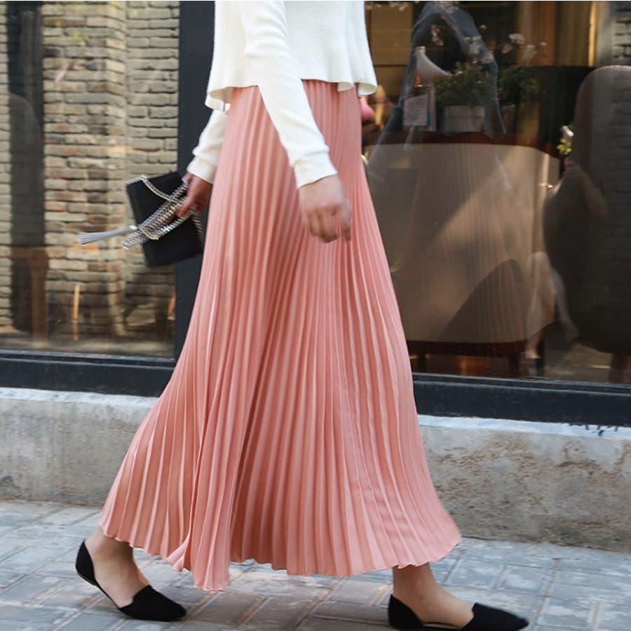 人気のフレアーロングスカート  ソリッドカラー レディース 全8色 6