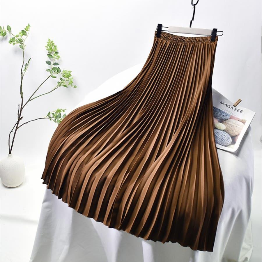人気のフレアーロングスカート  ソリッドカラー レディース 全8色 7