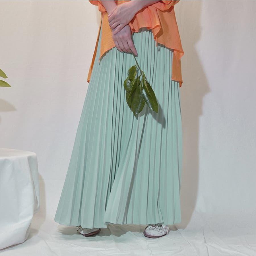 人気のフレアーロングスカート  ソリッドカラー レディース 全8色 9