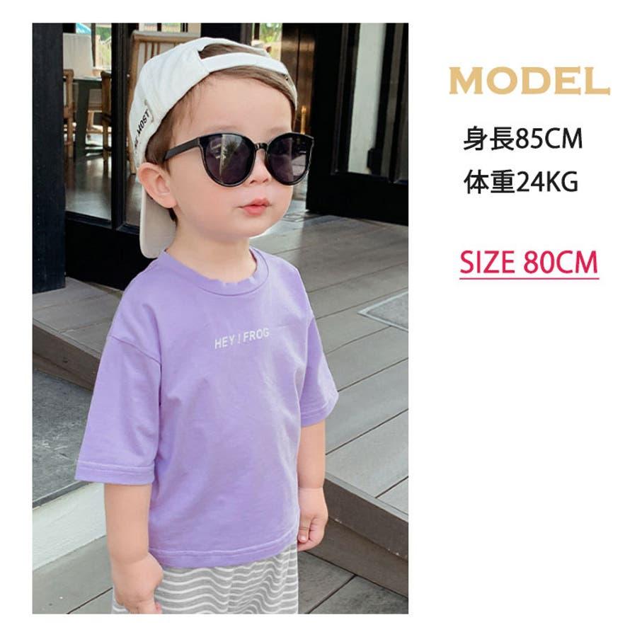 ソリッドカラー 半袖Tシャツ 子供服 キッズ 夏 ユニセックス 全6色 3
